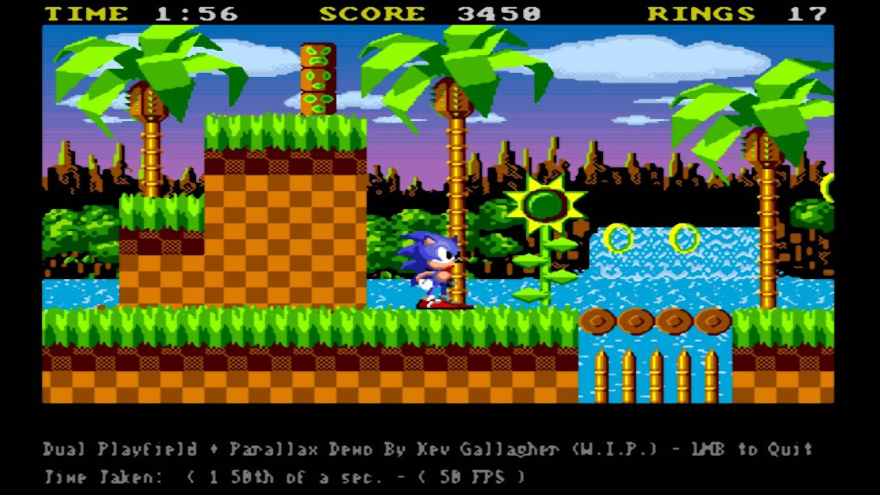 AMIGA SONIC GAME DEMO EARLY STAGES HYPERCAM 3 5 (FRAMERATE IS MUCH BETTER)  From kevG -eab abime net