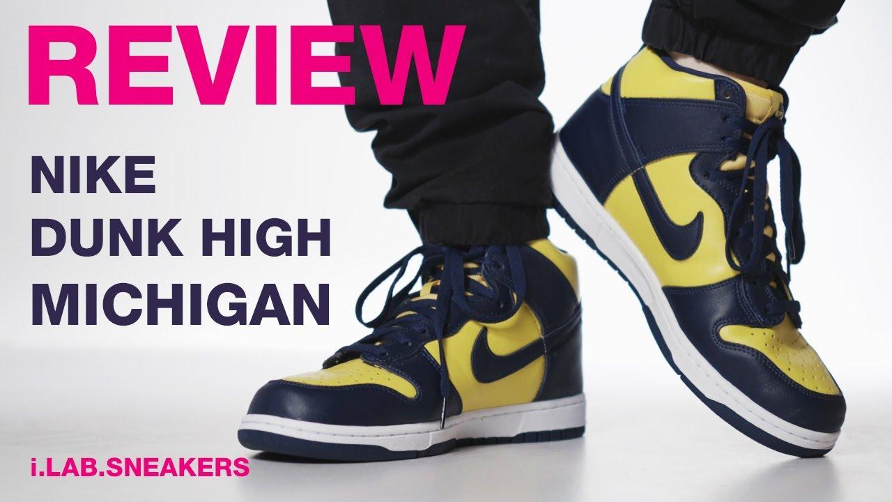[REVIEW] 이 녀석이 나이키 덩크의 시작입니다! 한국 최초! 나이키 덩크 하이 미시건 리뷰  Nike Dunk High Michigan CZ8149-700 REVIEW