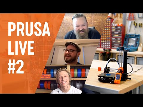 PRUSA LIVE #2 - FW 3.9.0 Features, Twitter Q&A, Latest News From Prusa, MF Prague And More!