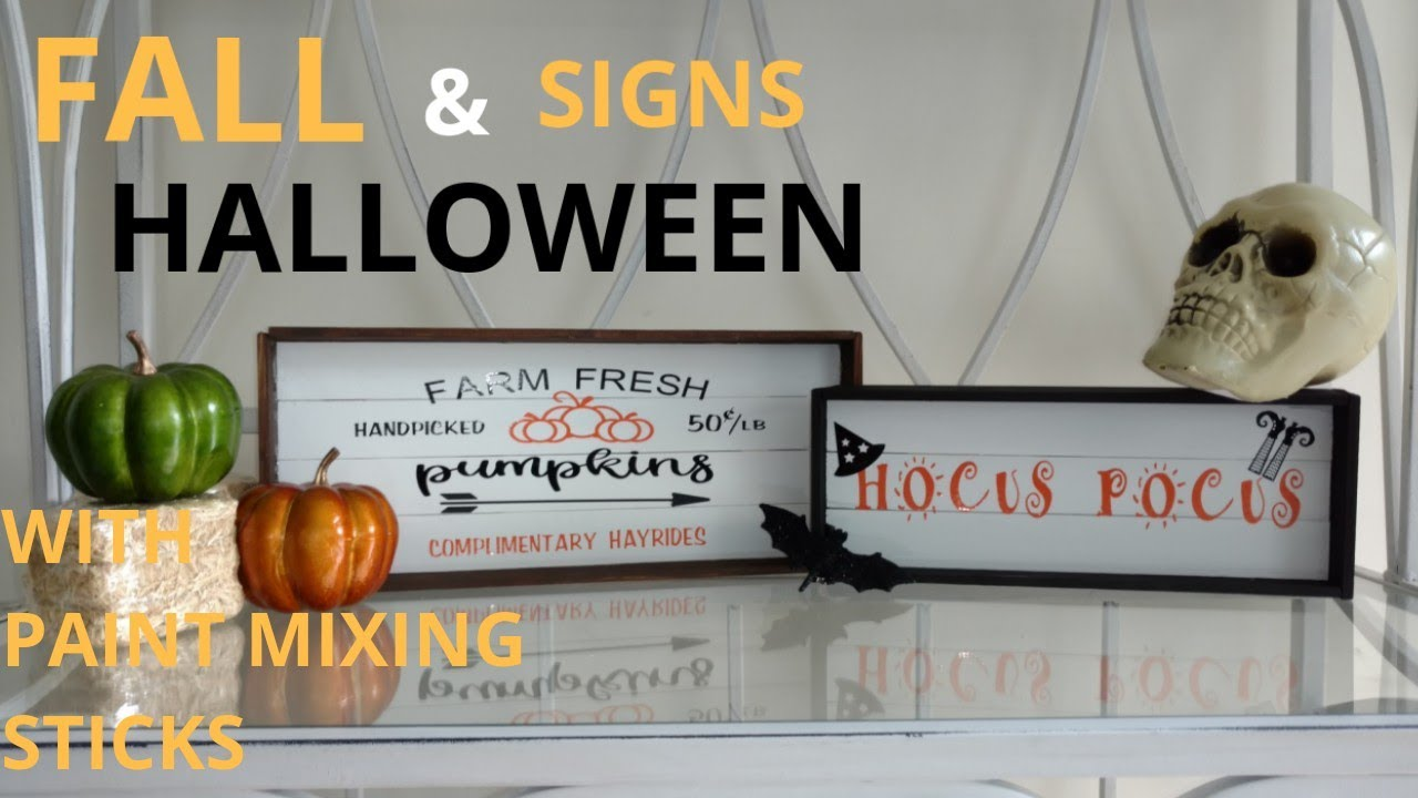 Diy Fall And Halloween Signs Diy Fall Decor Diy Home Decor Diy Sign Using Cricut Explore Air 2