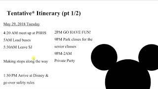 Disney Grad Nite Presentation