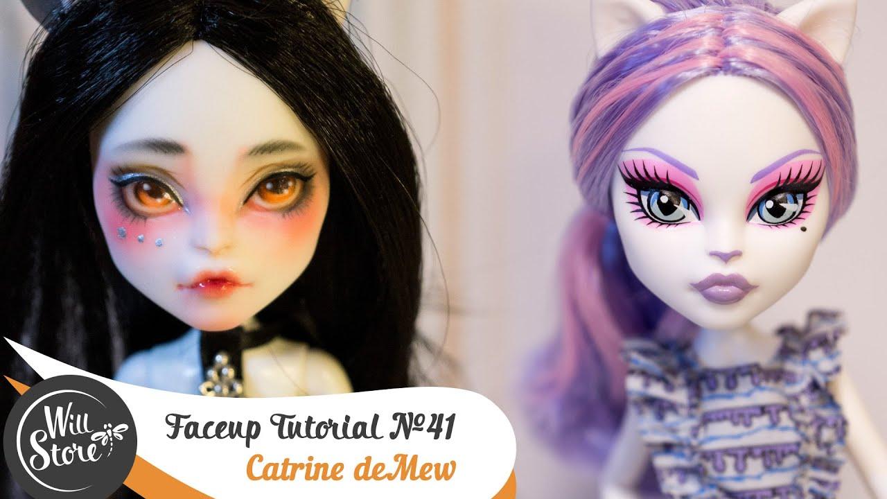 Catrine demew popular catrine demew doll buy cheap catrine demew doll - Faceup Tutorial 41 Catrine Demew Ooak Monster High Custom Doll Repaint By Willstore Youtube