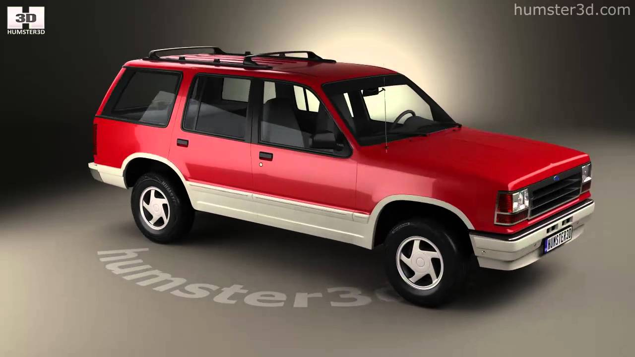 hight resolution of ford explorer 1990 3d model by humster3d com
