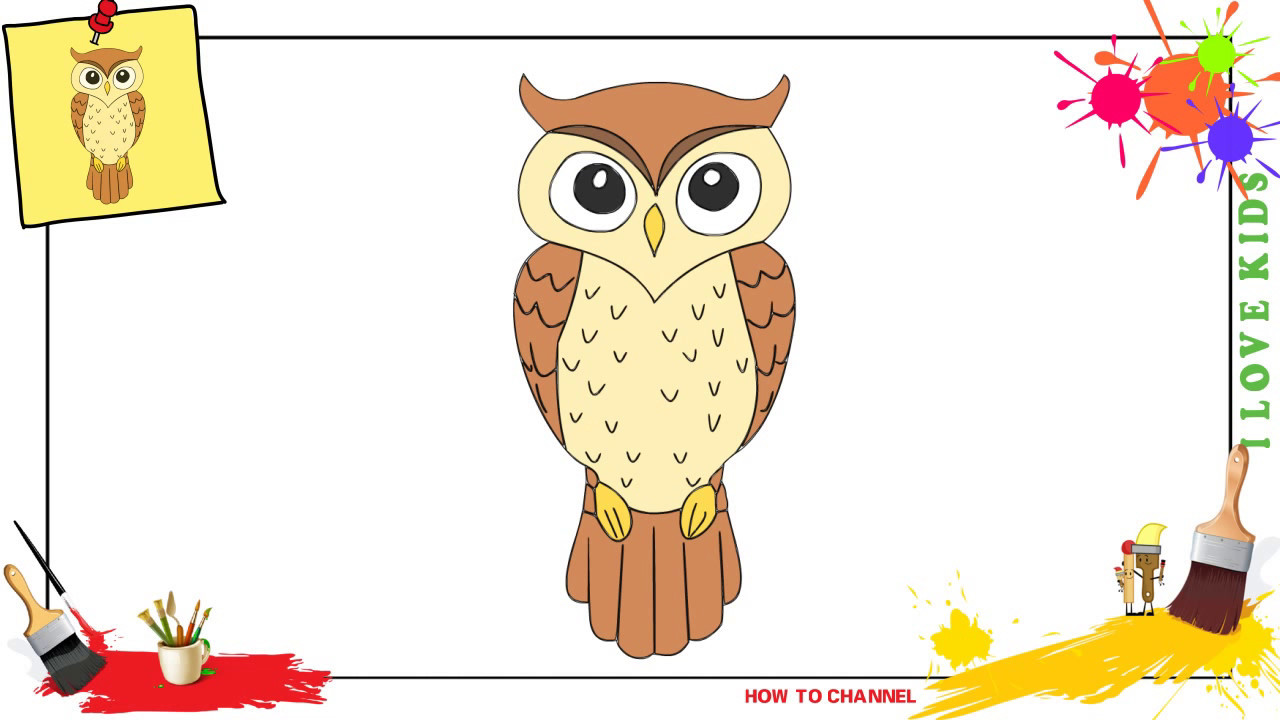 - How To Draw An Owl 2 SIMPLE, EASY & SLOWLY Step By Step For Kids