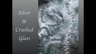 Resin Art Crushed Glass and Alcohol Ink Embellishments