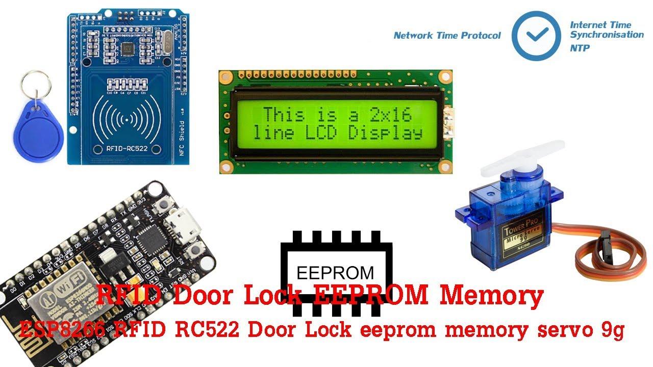 วิธีการทำ ESP8266 RFID RC522 Door Lock eeprom memory servo 9g