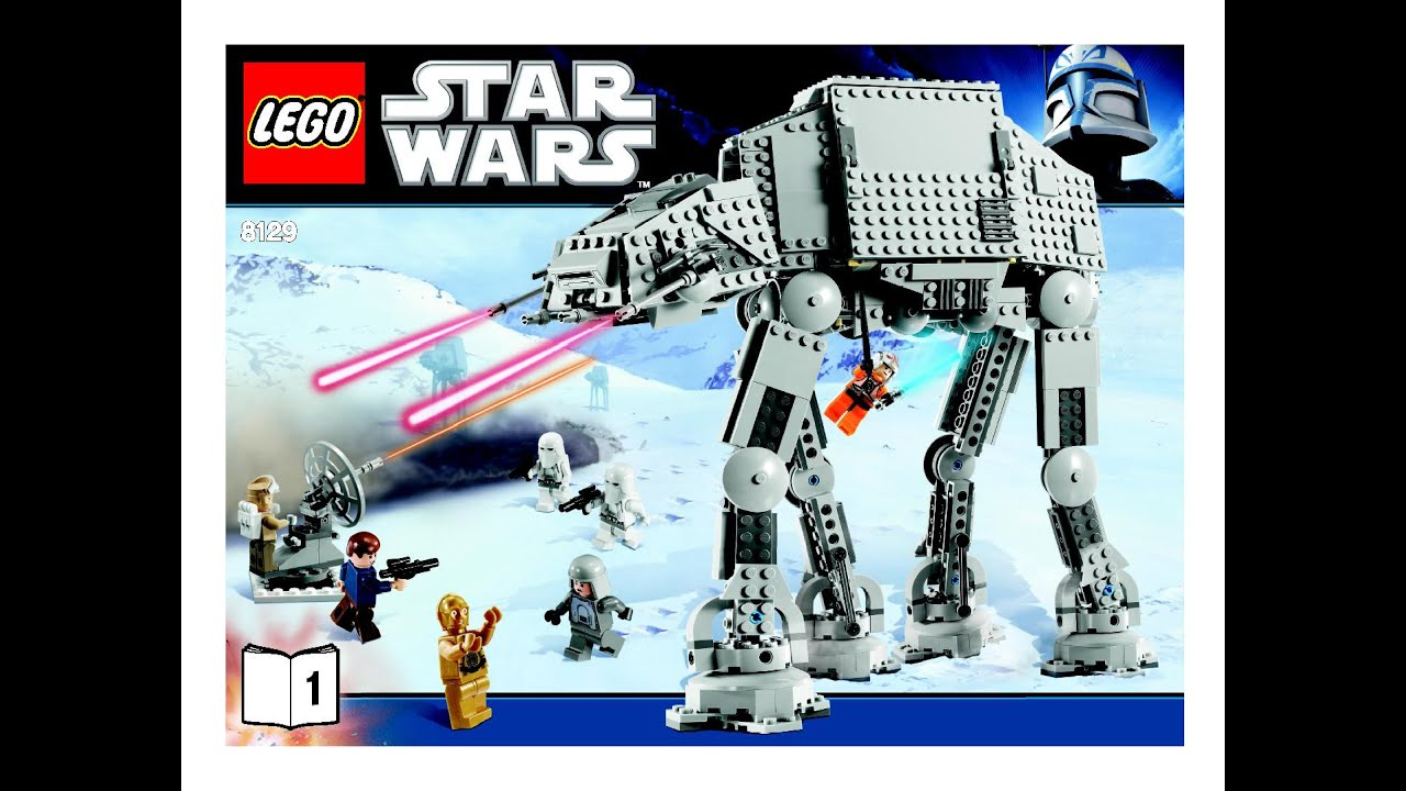 Lego Star Wars At At Walker 8129 Instructions Diy Book 1 Brick