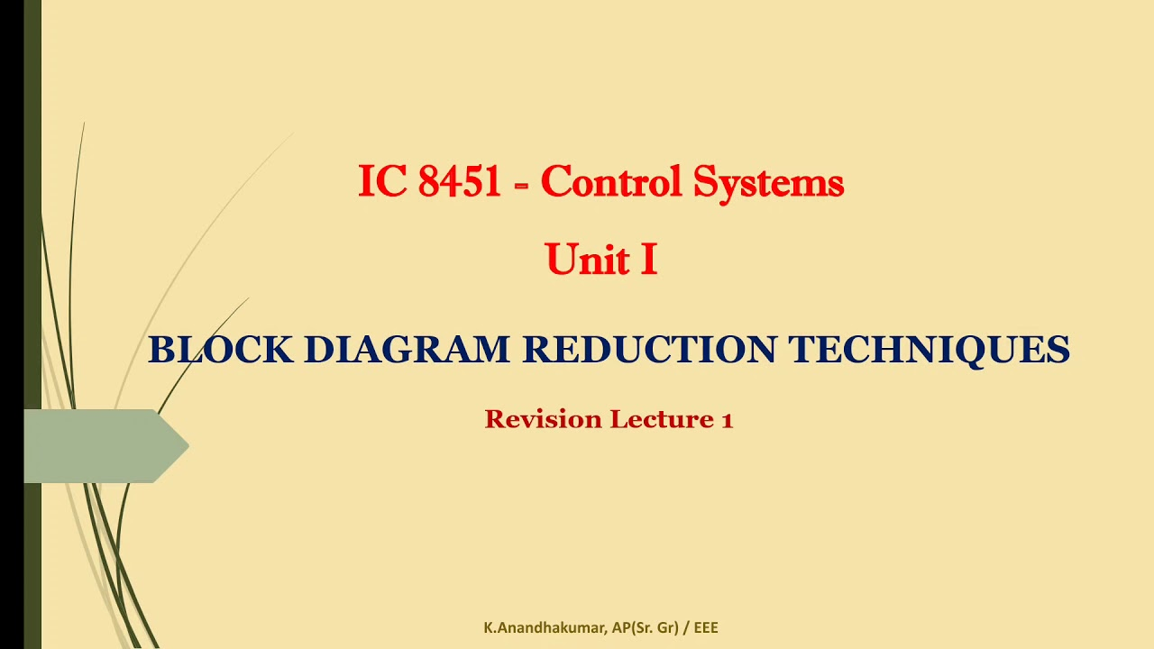 1 1 Block Diagram Reduction Rules