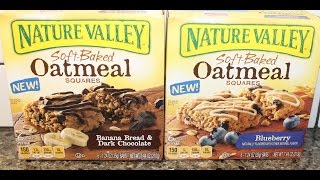 Nature Valley Soft Baked Oatmeal Banana Bread & Dark Chocolate And Blueberry Review