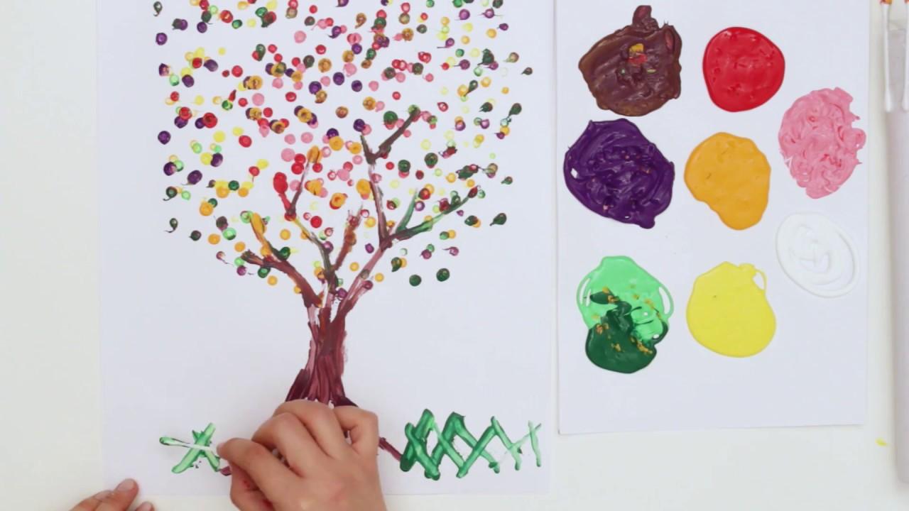 Tuvalet Kağıdı Rulosu ile Ağaç Baskısı Yapımı