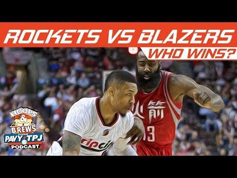 Download Youtube: Houston Rockets vs Portland Trail Blazers, Who will win ? | Hoops N Brews