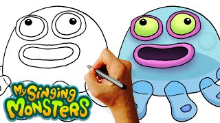 How to Draw Toe Jammer (My Singing Monsters) Step by Step