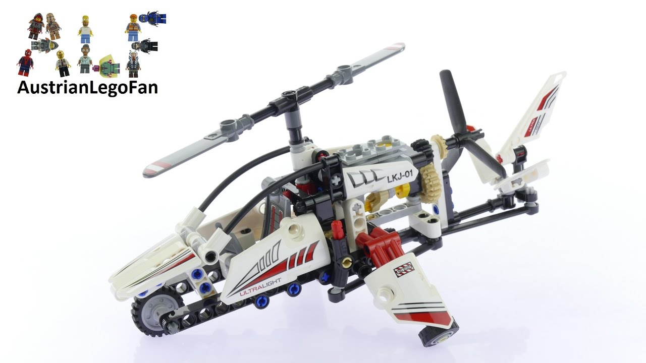 lego technic 42057 ultralight helicopter lego speed build review youtube. Black Bedroom Furniture Sets. Home Design Ideas