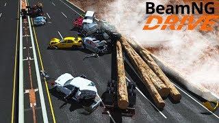 Масштабная Авария на Трассе в Сильный Туман - BeamNG drive