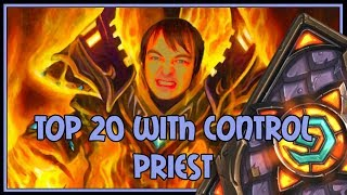 Top 20 legend with control priest | The Witchwood | Hearthstone