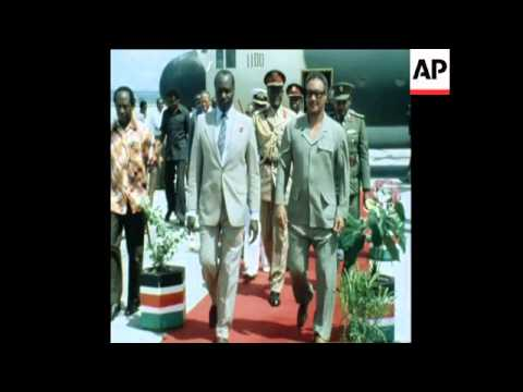 UPITN 15 4 80 SUDANESE PRESIDENT NUMEIRY ARRIVAL