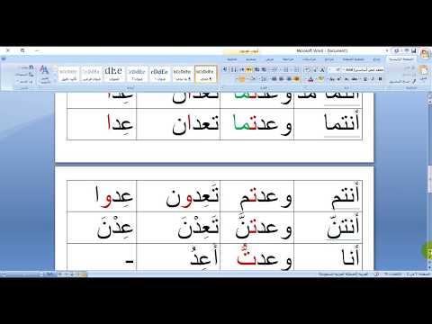 الدرس الـ (  94 ) في اللغة العربية ( إسناد الأفعال المعتلة إلى الضمائر )