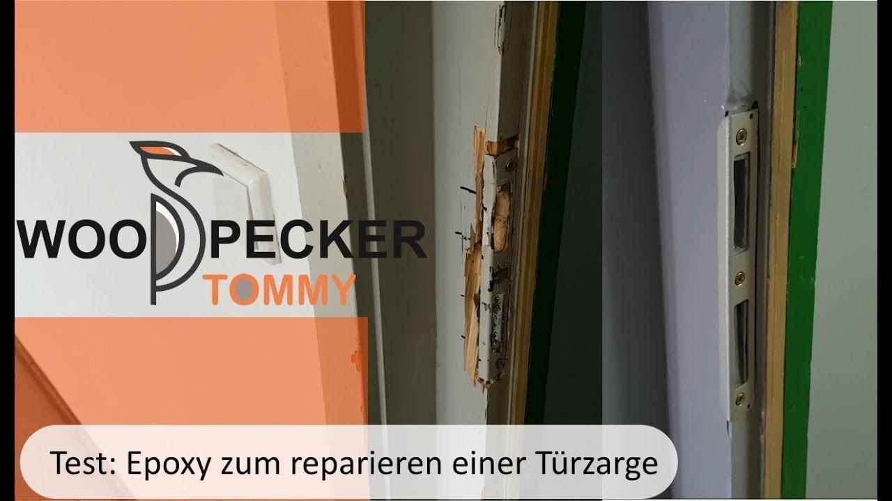 Test: kann man mit Epoxy eine Türzarge reparieren ? - YouTube