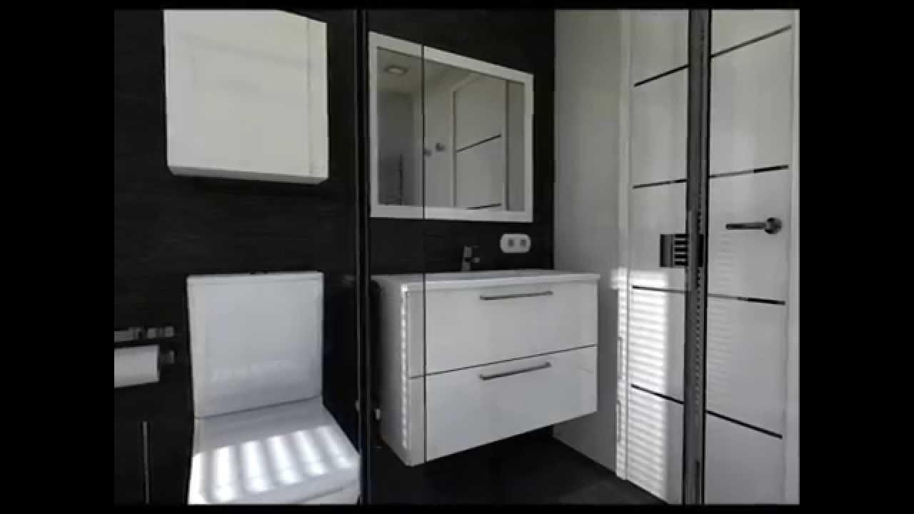 Diseo Interior Cuartos de bao en Blanco y Negro  YouTube