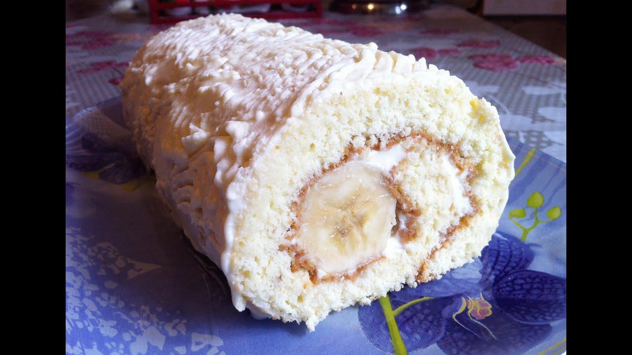 Пошаговый фото рецепт рулета бисквитного с фото