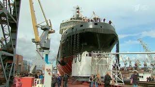 Новый российский ледокол Илья Муромец» готовится к службе в Арктике.