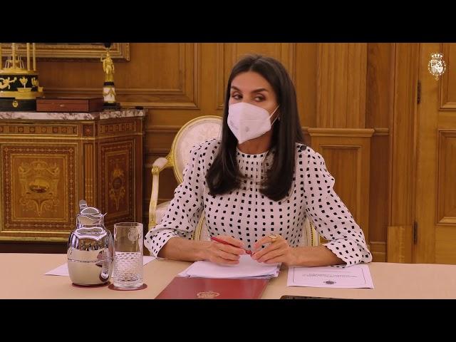 S.M. la Reina en la reunión de trabajo sobre el impacto en la salud mental durante la pandemia