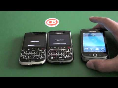 BlackBerry boot comparison - Bold 9700, Bold 9650 and Torch 9800