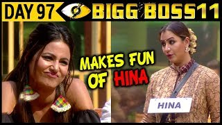 Shilpa Makes Fun Of Hina in Front of Rani Mukherjee Bigg Boss 11 Day 97 Episodic Update