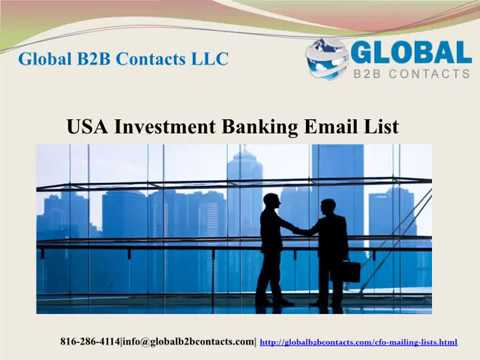 USA Investment Banking Email list