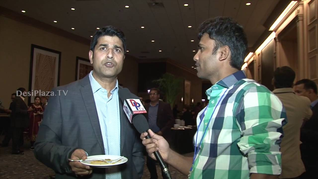 Attendee at ATA convention speaking to Desiplaza TV at Chicago 2016.