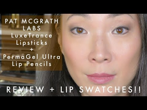 PAT MCGRATH LABS LuxeTrance Lipstick and PermaGel Ultra Lip Pencil Review with Swatches!