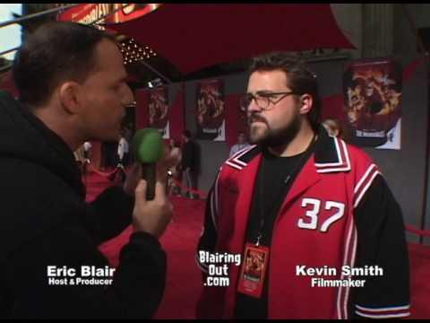 Kevin & Harley Quinn Smith w Eric Blair talk superheroes 2005