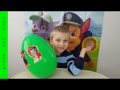 Большое яйцо с сюрпризом ЩЕНЯЧИЙ ПАТРУЛЬ Киндер сюрприз Щенячий патруль игрушки