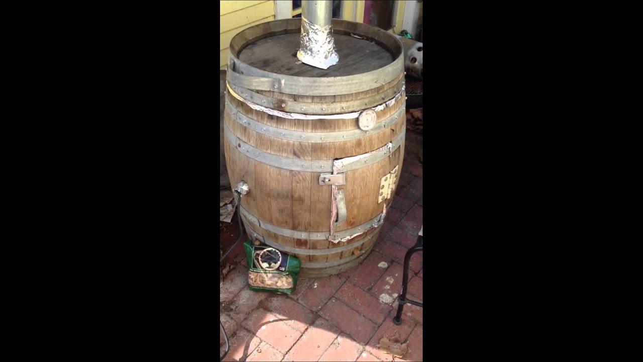 Wine Barrel Smoker Bourbon Glazed Ham Youtube