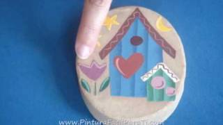 3-3 Tutorial Pintura Country Casitas Pintura Decorativa - Pintura Facil Para Ti