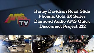 Harley Davidson Road Glide Phoenix Gold SX Series Diamond Audio AMS Quick Disconnect Project 212