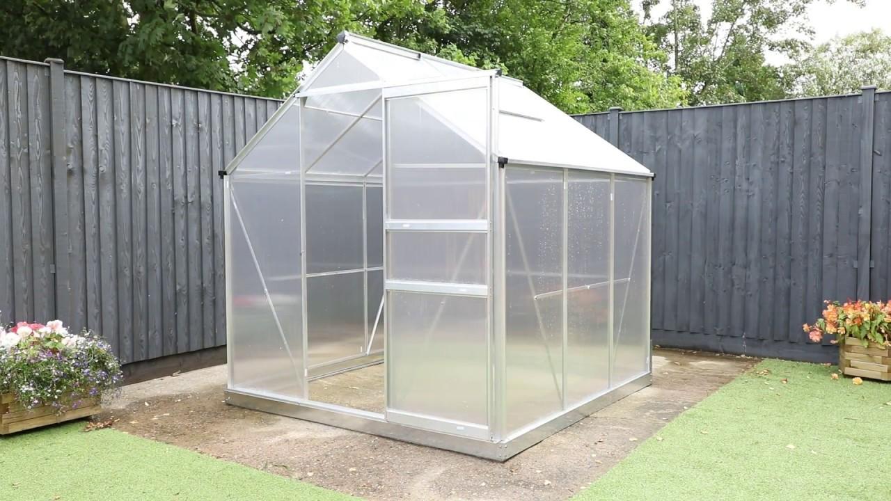 Garden Grow 6 x 6 Aluminium Greenhouse Installation