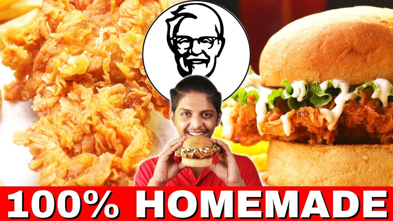 Download KFC Chicken Recipe in Tamil | KFC Chicken Burger in Tamil | KFC Chicken in Tamil Zinger Burger