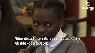 Niños de La Serena dialogan cara a cara con Alcalde Roberto Jacob