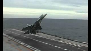 Sukhoi Su-33 Flanker-D Extreme Landing Attempt