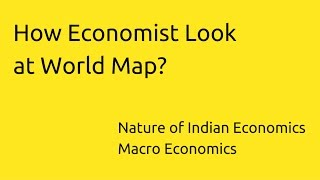 How Economist Look at World Map