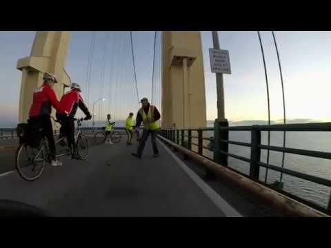 TUFF Ride across Mackinaw Bridge Fall 2015