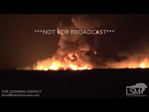 05-24-2018 Ness City, KS Fire Started by Lightning