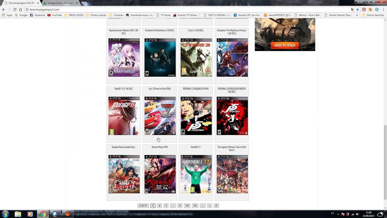 jogos para ps3 desbloqueado download torrent