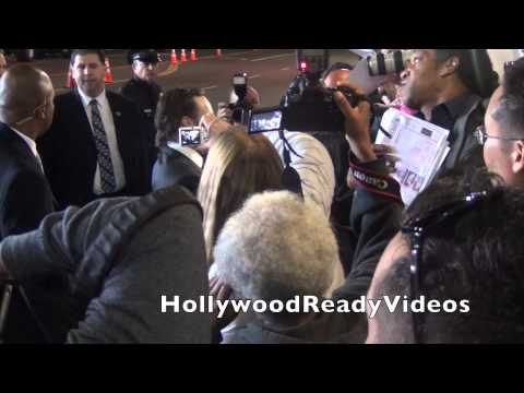 Callan Mulvey greets fans arriving at the 300: Rise of an Empire premiere in Hollywood