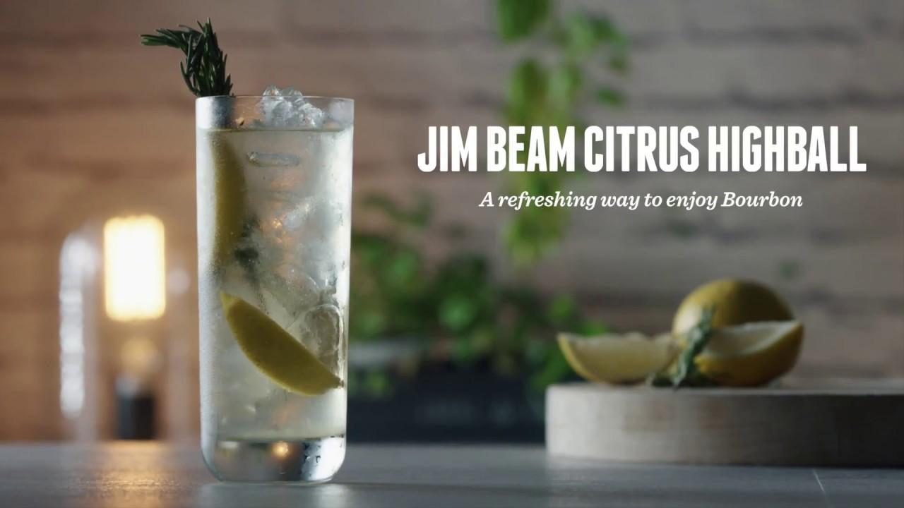 How To Make A Jim Beam Citrus Highball Cocktail Recipes