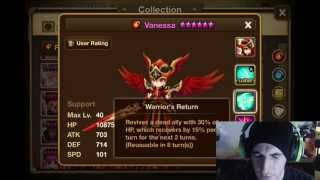 SUMMONERS WAR : Valkyrja Review - wind water fire light dark and sausage flavors