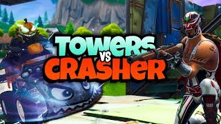 TOWERS VS CRASHER - Fortnite Mini-Game met Ronald & Rudi