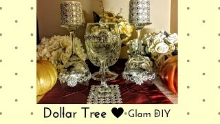 DIY Dollar Tree Chic Bling Centerpieces using Wine Glasses