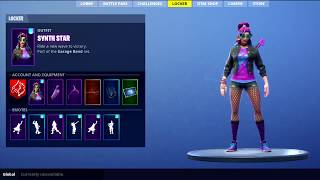 LEAKED *NEW* SYNTH STAR SKIN SHOWCASE WITH BACKBLING Fortnite Battle Royale